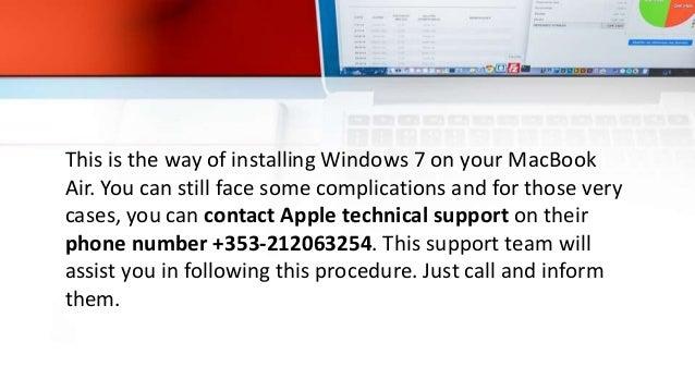 windows 7 on a macbook air