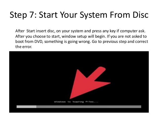 Insert Boot Disk And Press Any Key Windows 7