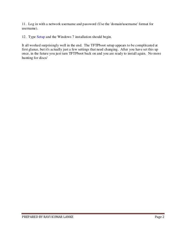 linux tftp installer windows 7