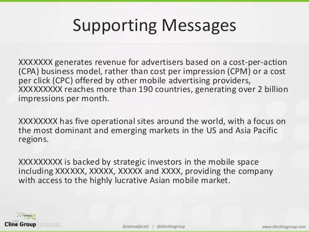 Supporting Messages  XXXXXXX generates revenue for advertisers based on a cost-per-action  (CPA) business model, rather th...