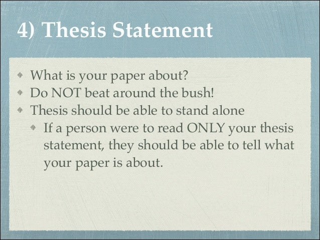 Thesis statement for the novel speak