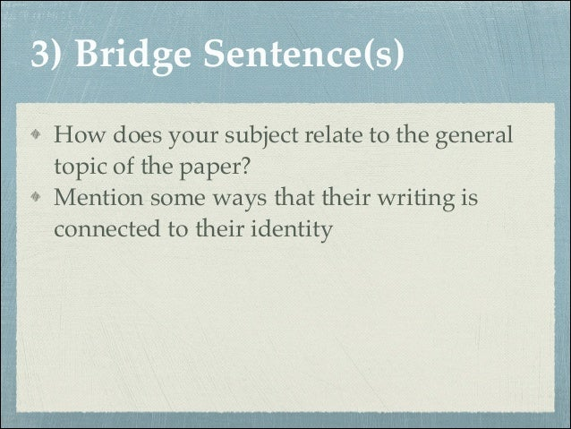Bridge Sentences — Types and Examples