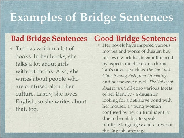 bridge essay examples