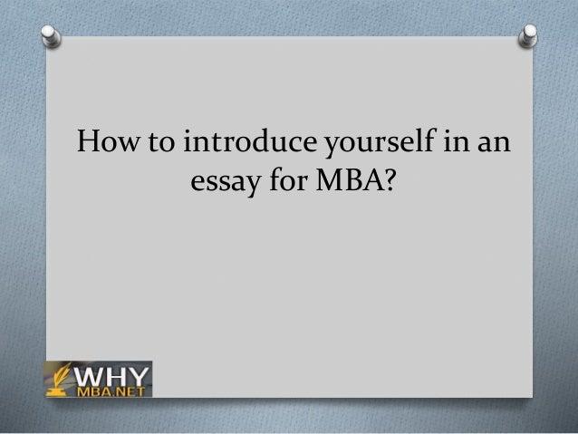 How to introduce an essay
