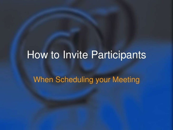 How to invite participants when scheduling your WebEx meeting