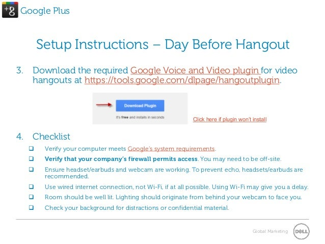 How To Join A Google Hangout With Dell