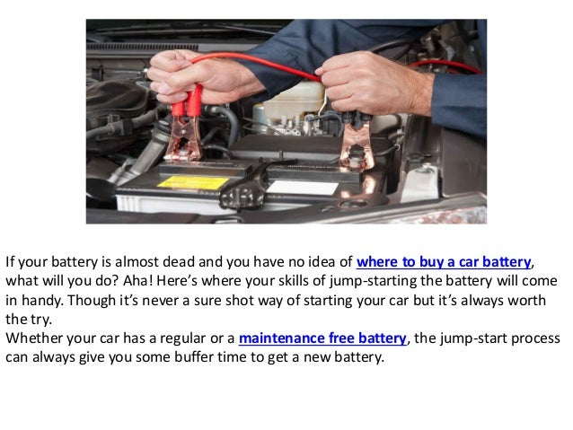 how to jump start battery