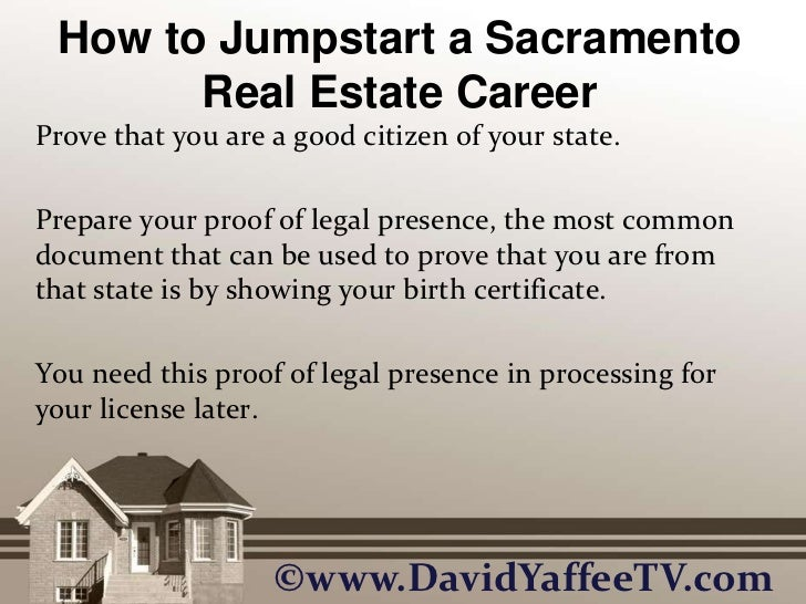 How To Jumpstart A Sacramento Real Estate Career