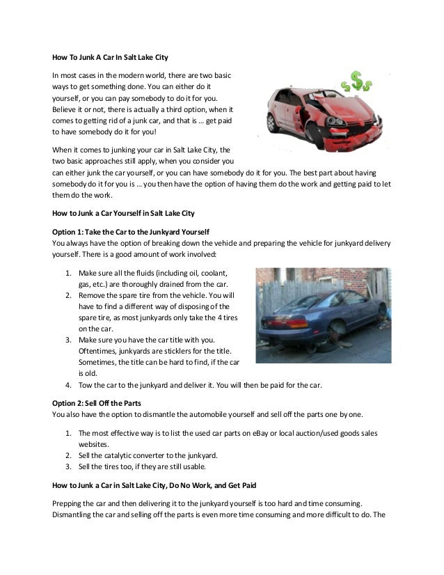 How to Junk a Car in Salt Lake City
