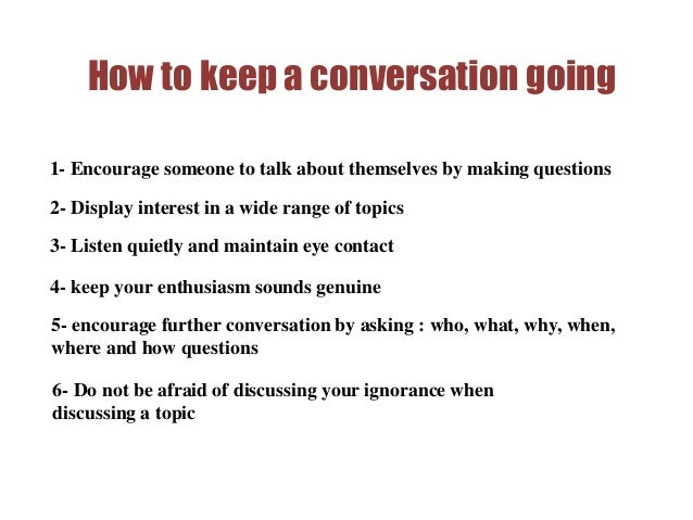 How To Keep A Conversation With A Guy