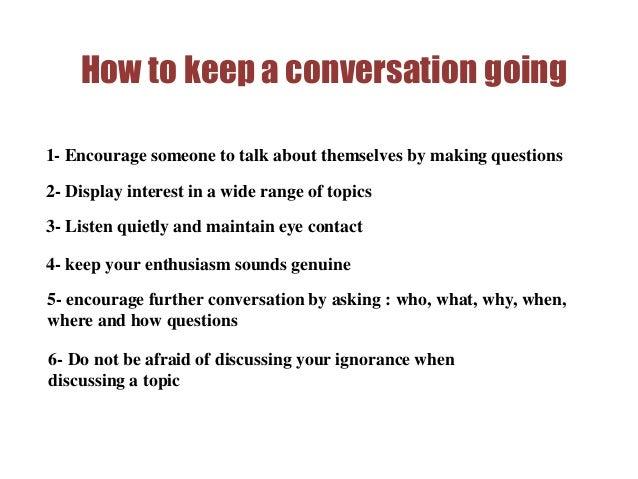 Keep Text Conversation Going