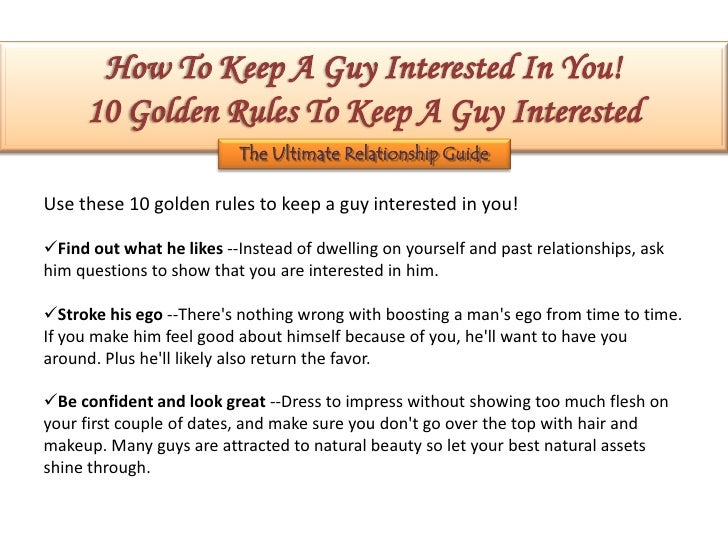 How to make a man stay interested in you