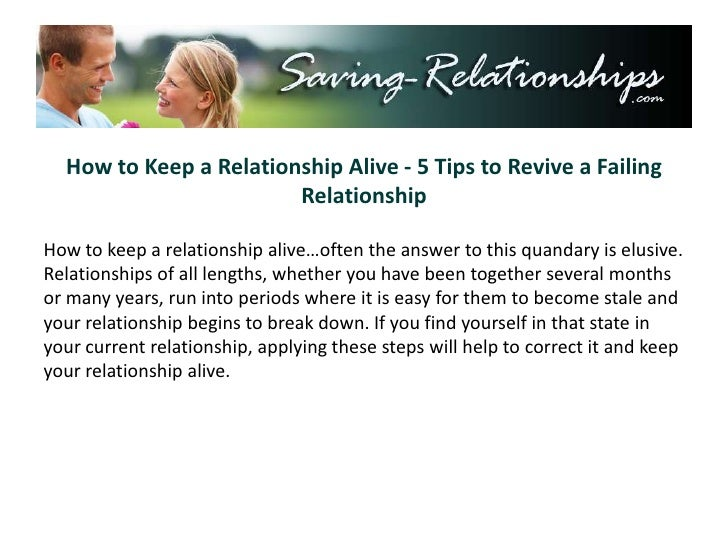 how to revive a relationship