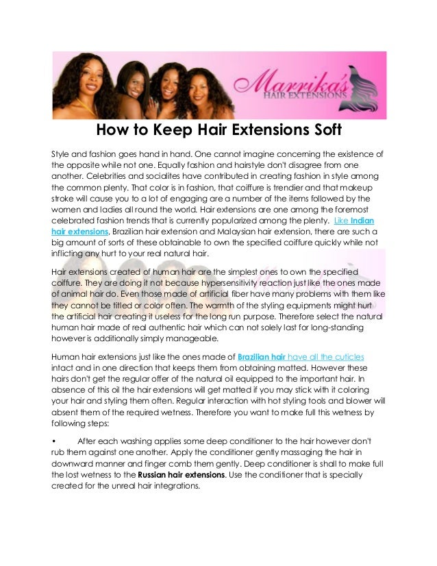 How To Keep Hair Extensions Soft