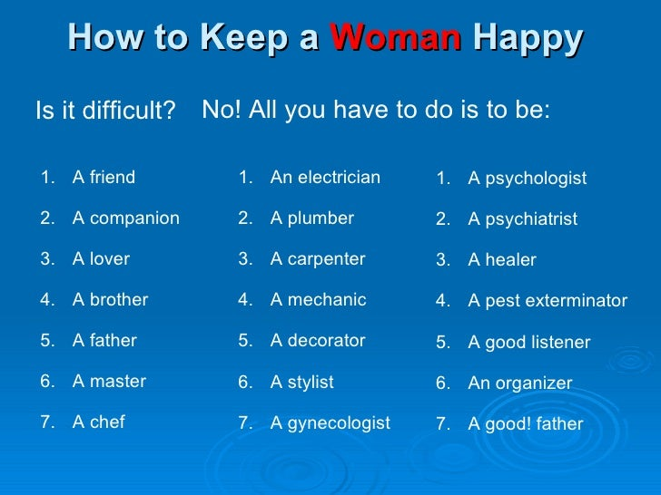 Keep A Woman Interested