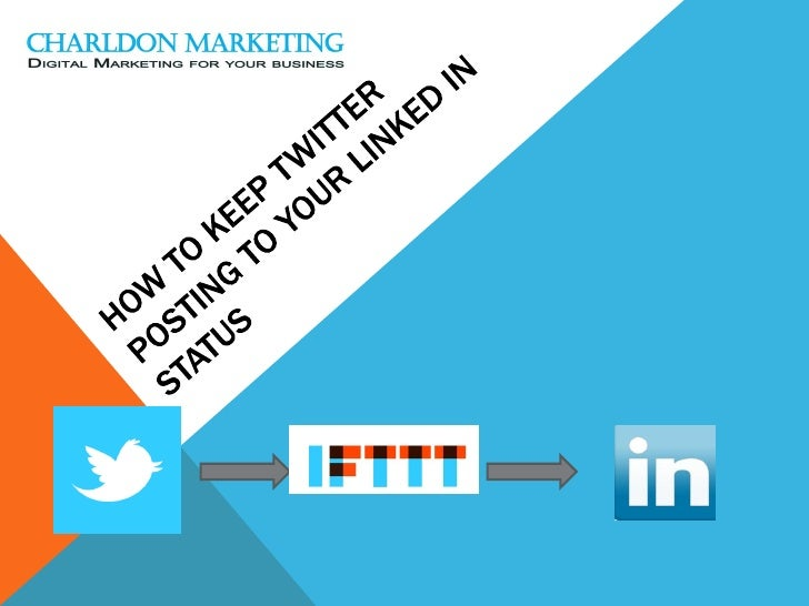 How to keep twitter posting to your linked