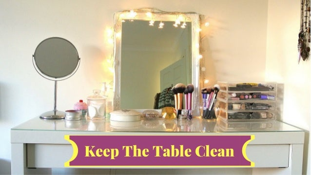 How To Keep Your Dressing Table Well Organised  Slide 2