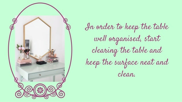 How To Keep Your Dressing Table Well Organised  Slide 3