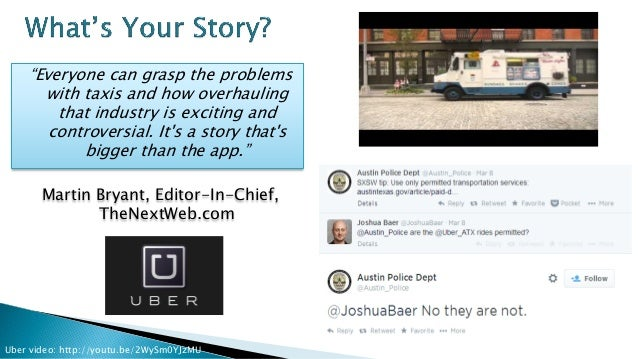 """Uber video: http://youtu.be/2WySm0YJzMU """"Everyone can grasp the problems with taxis and how overhauling that industry is e..."""