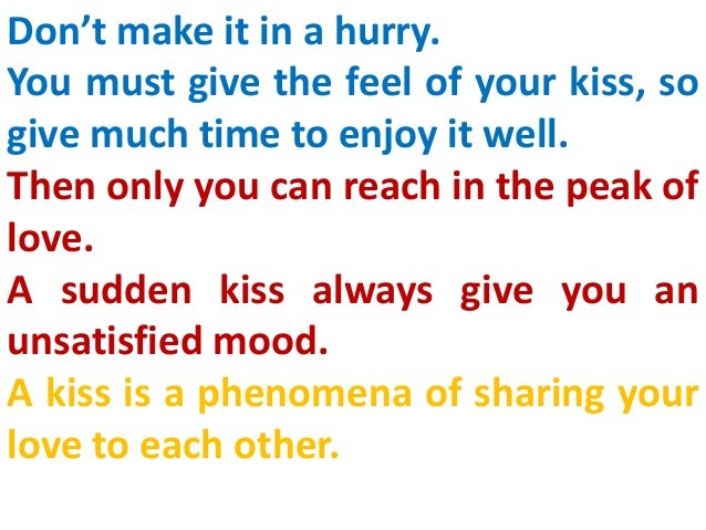 How To Give A Kiss To A Girl