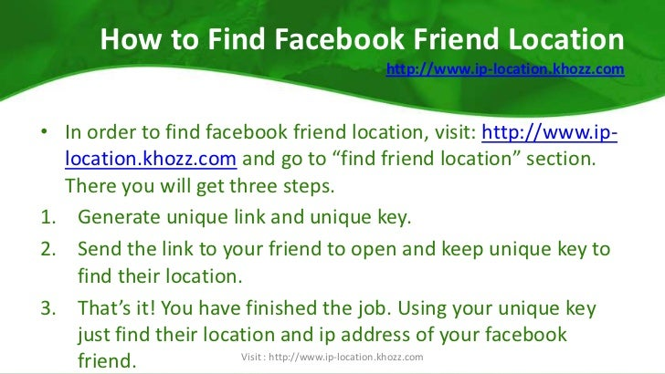 How To Know Facebook Friend Location