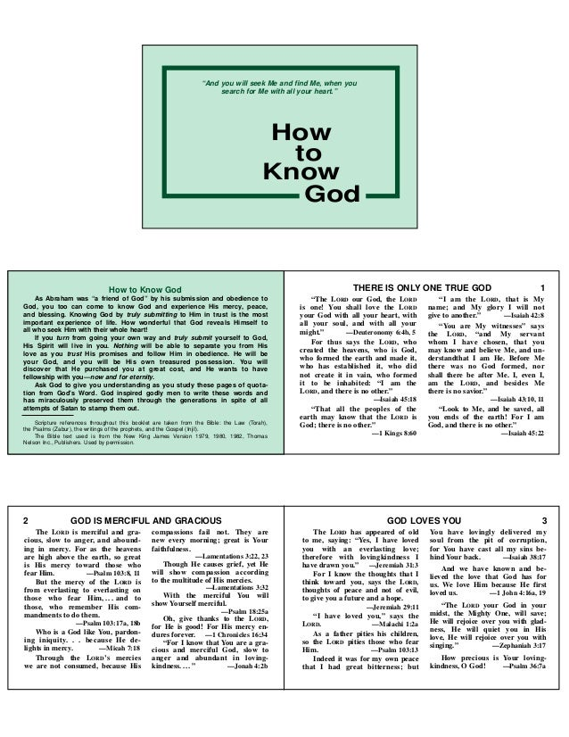 """How to Know GodAs Abraham was """"a friend of God"""" by his submission and obedience toGod, you too can come to know God and ex..."""