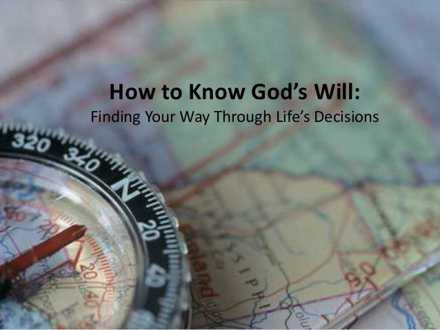 How to Know God's Will Slide 2