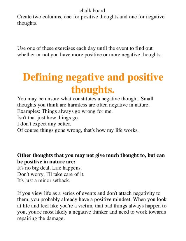 how to change mindset from negative to positive