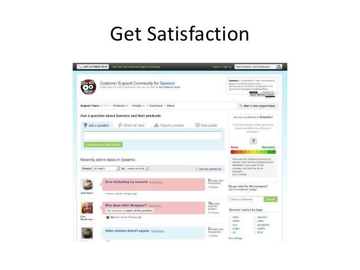 Get Satisfaction