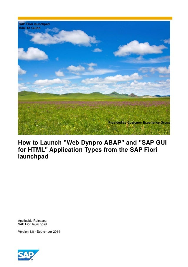 How to launch web dynpro abap and sap gui for html