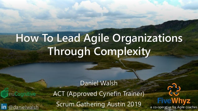 Copyright © 2019 nuCognitive LLC. All rights reserved. SOTA|Walsh;May2019 1@danielwalsh How To Lead Agile Organizations Th...