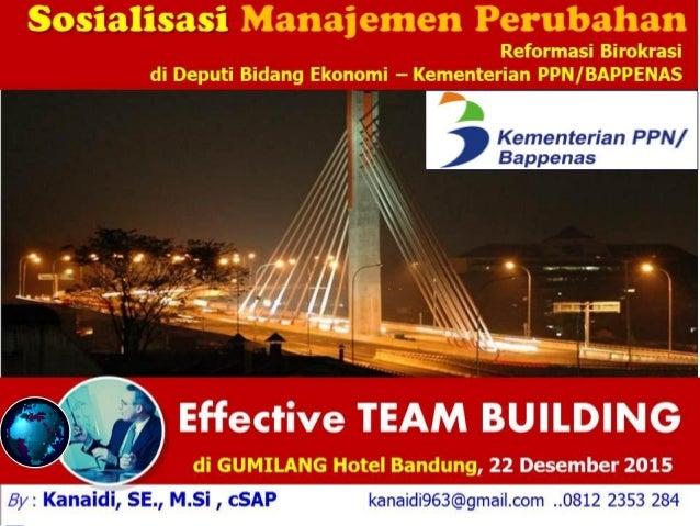Presented By: Wayan Kemara Giri By : Kanaidi, SE., M.Si kana_ati@yahoo.com EFFECTIVE TEAM WORK Training How to Lead a High...