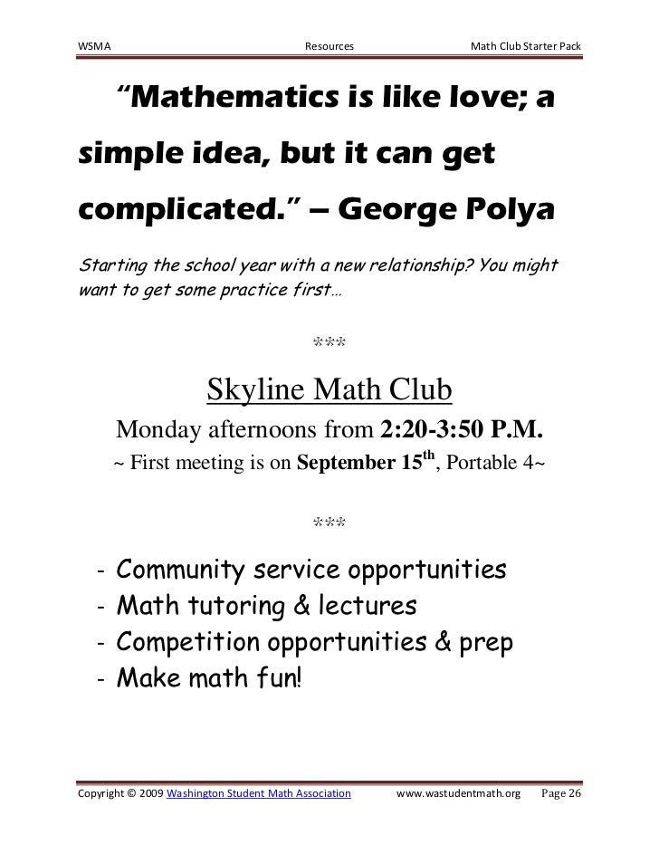How to lead a math club