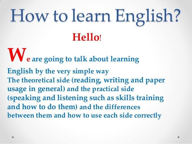 The value of learning english