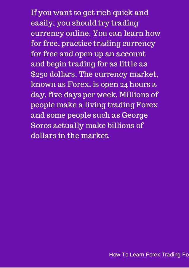 How to learn currency trading