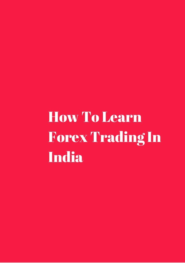 How can i trade forex in india