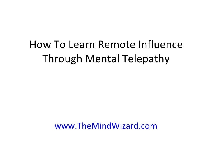 how to use mental telepathy