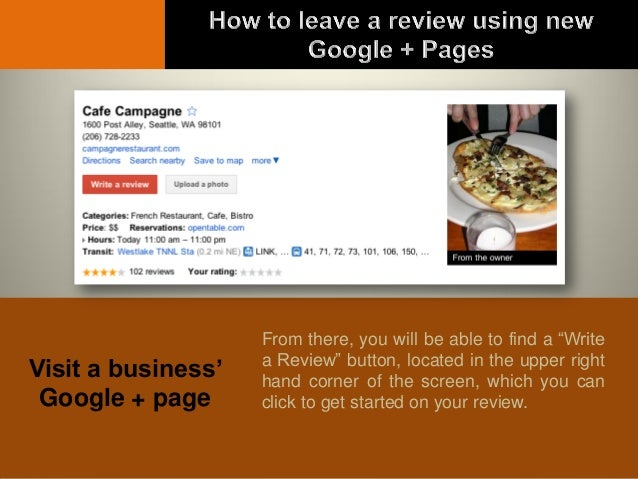 How to Leave a Google + Review as an Individual
