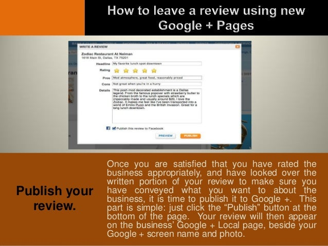 how to leave a google review for a company