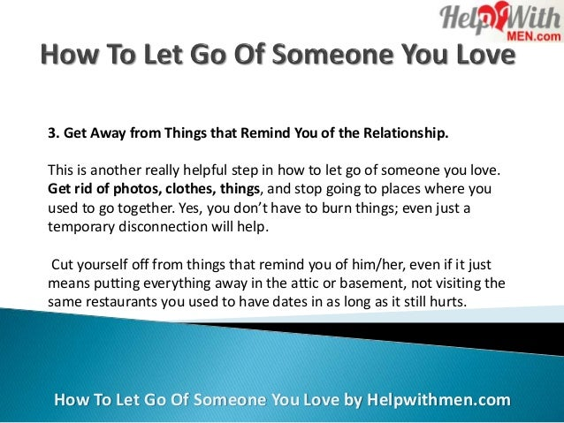 How to let things go in a relationship
