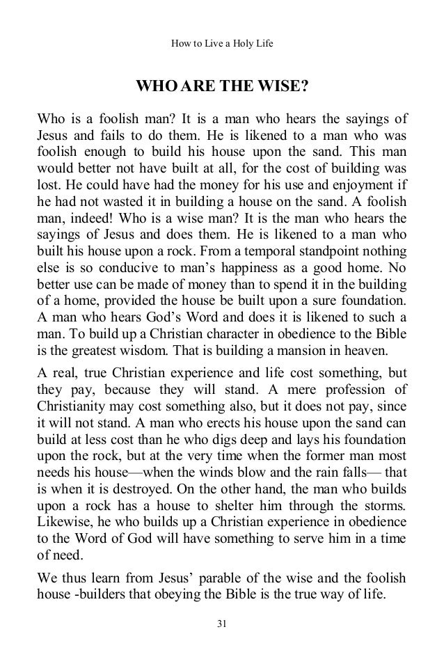 How to Live a Holy Life By Charles Ebert Orr