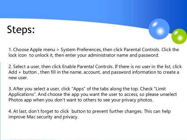 How to lock photos app with password on Mac