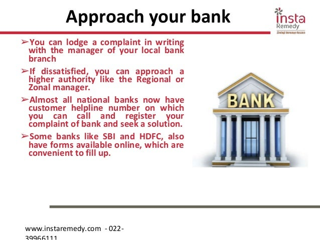 How to lodge a complaint against your bank?