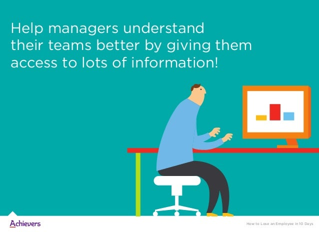 Help managers understand their teams better by giving them access to lots of information! How to Lose an Employee in 10 Da...