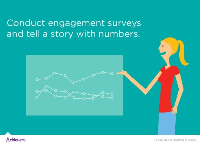 Conduct engagement surveys and tell a story with numbers. How to Lose an Employee in 10 Days