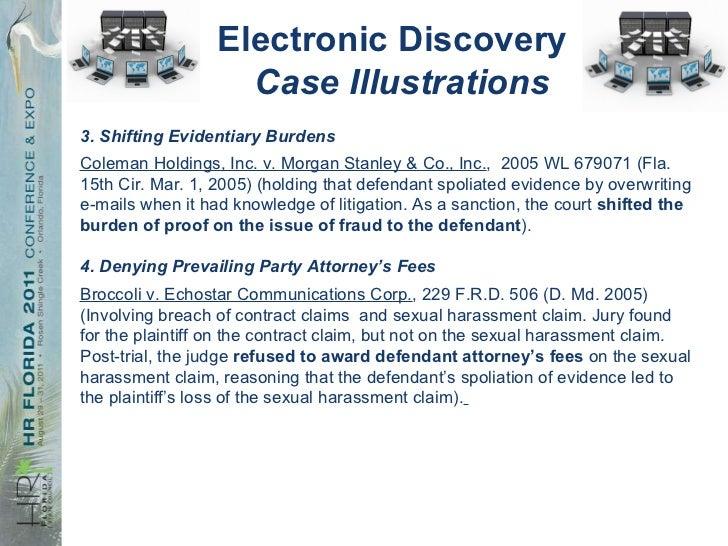 sex harassment cases burden shifting