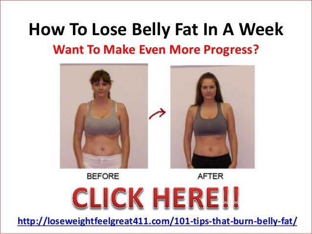 How To Lose Belly Fat In A Week