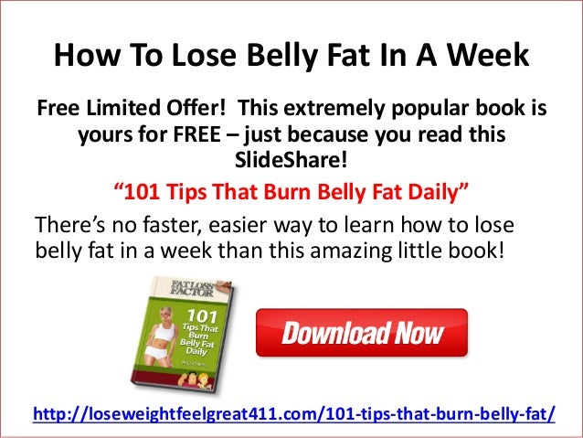 lose belly fat extremely fast free