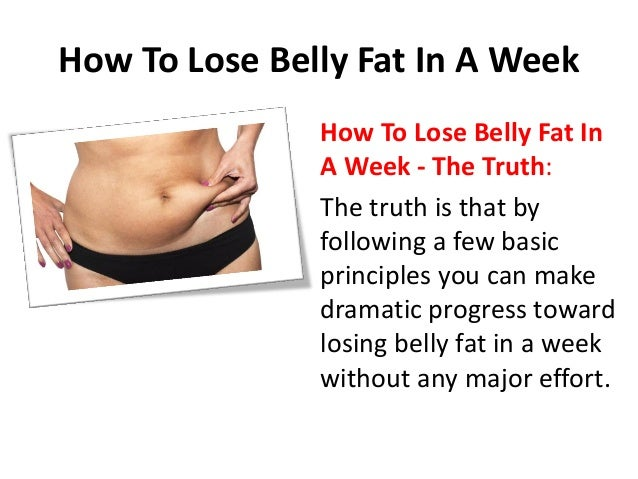 how to lose a fat belly in 3 days