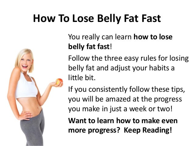 lose tummy weight fast